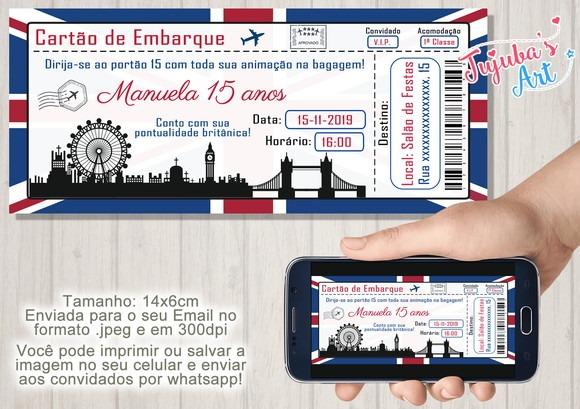 Convite Passaporte Londres Digital