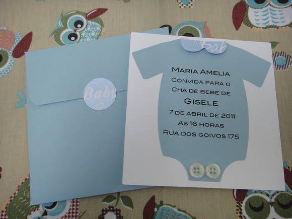 Convite Para Chá De Bebê Para Menino Com Envelope E Lacre  R$ 5,00