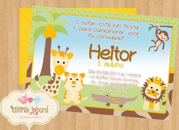 Convite De Safari Baby