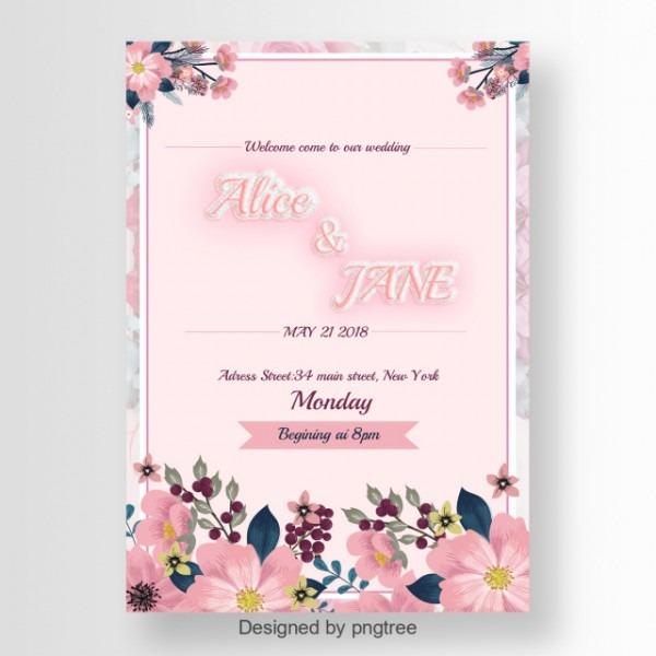 Lindo Convite De Casamento Letra Brilhante Cor De Rosa Efeito De
