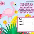 Convite De Flamingo