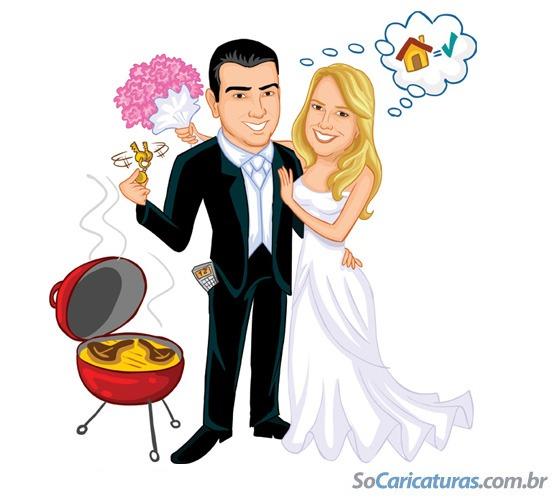 Só Caricaturas De Noivos  Caricatura De Noivos Para Convite De