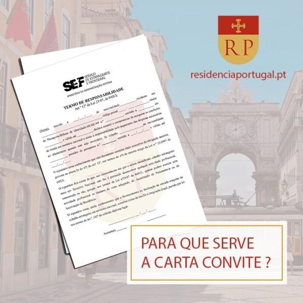 Carta Convite Portugal