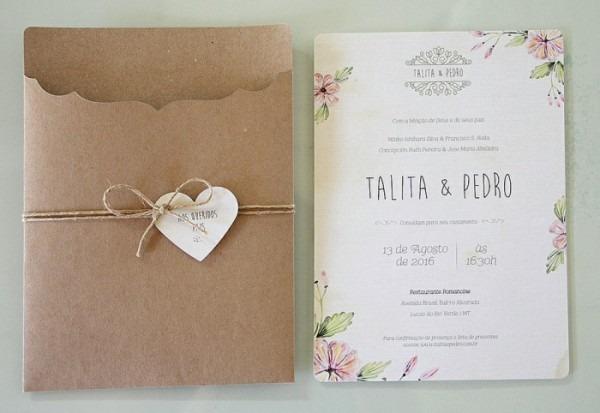 Modelo Envelope Para Convite De Casamento