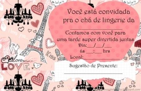 Convites De ChÁ De Panela Para Imprimir!  )