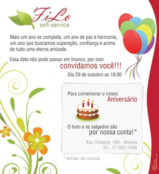Convite – Filo Self Service