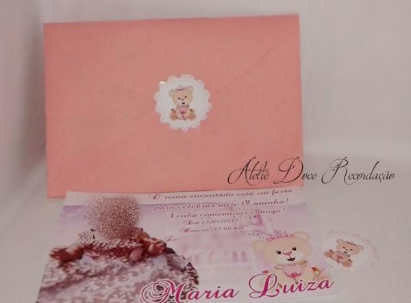 Convite 10x7 Com Envelope + Brinde No Elo7