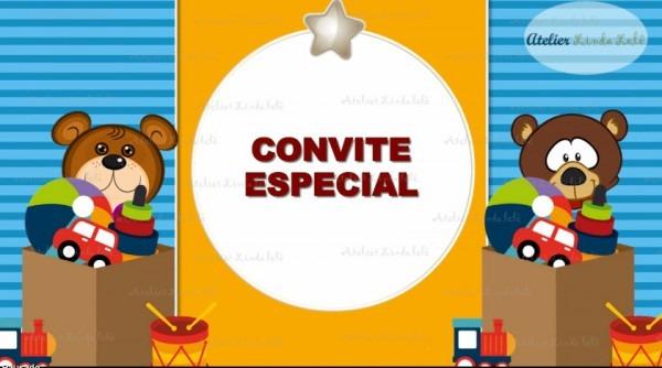 Convite Animado Brinquedos