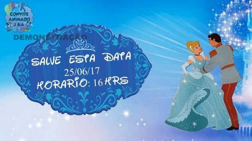 Convite Animado Cinderela