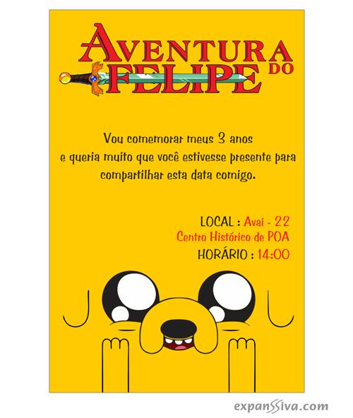 Convite Aniversário Hora De Aventura