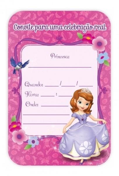Convite Aniversário Princesa Sofia