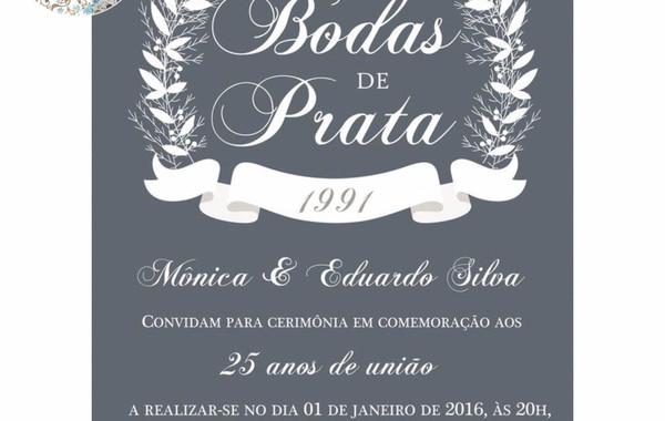 Convite Bodas De Prata Digital No Elo7