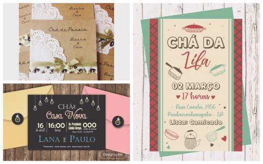 Convite Chá De Casa Nova  60 Inspirações & Modelos Para Imprimir