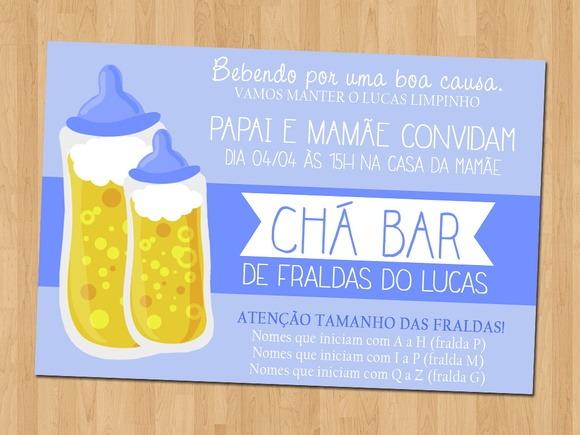 Convite Cha Bar De Fraldas