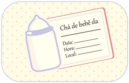 Convite De Chá De Bebê  Modelos Para Imprimir!