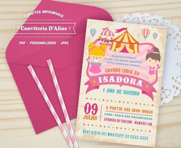 Convite Circo Menina