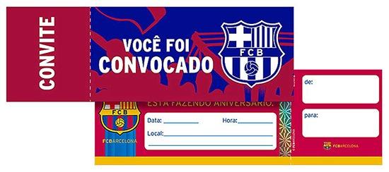 Convite De Aniversario Do Barcelona Para Imprimir 8 » Happy