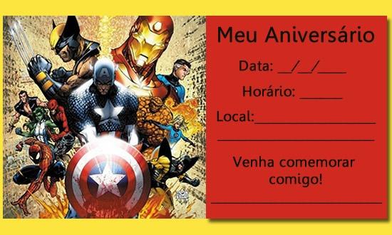 Convite De Aniversario Dos Vingadores Gratis 1 » Happy Birthday World
