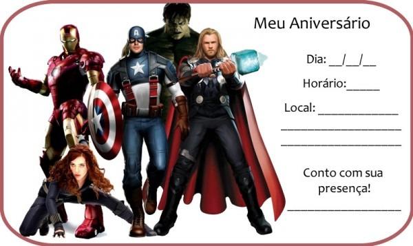 Convite De Aniversario Dos Vingadores Gratis » Happy Birthday World