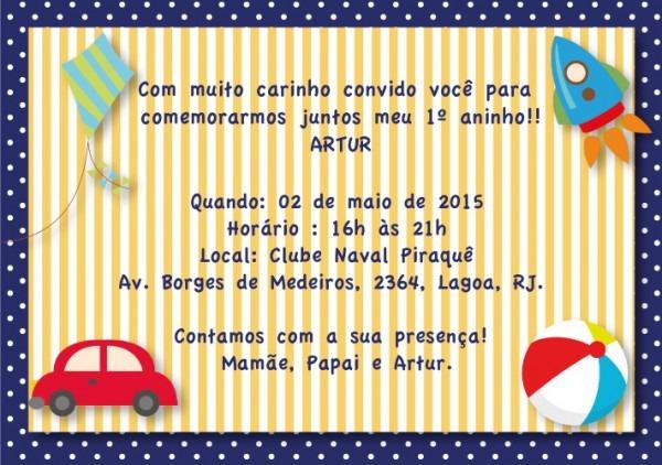 Convite De Aniversario Infantil Menino 5 » Happy Birthday World