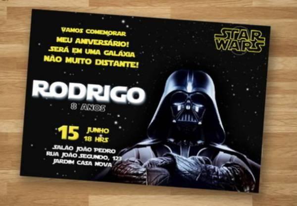 35 Convites Star Wars Intergalácticos Incríveis! – Modelos De Convite
