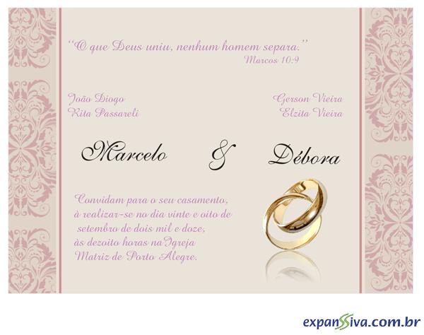 Convites Para Casamento M2686