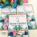 Convite Casamento Tropical