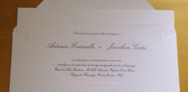 Convite De Casamento De Fontenelle Tem Aroma Da Chanel E Código De