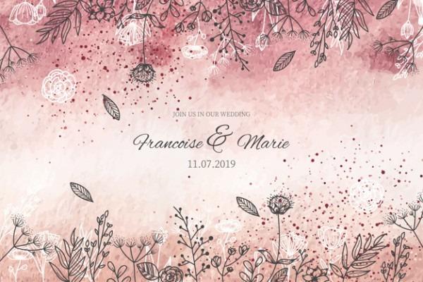 Convite De Casamento Elegante Com Fundo Dourado