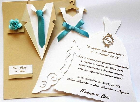 Convites De Casamento Terno E Vestido