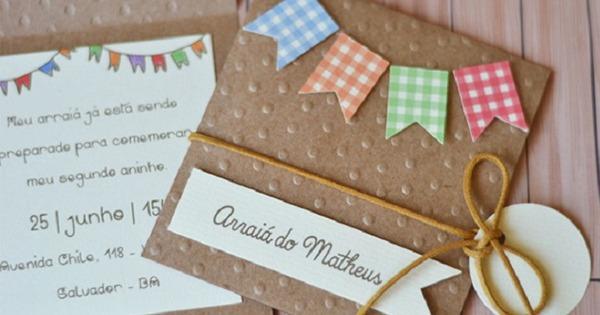 Convite De Festa Junina  35 Ideias Incríveis Para Copiar