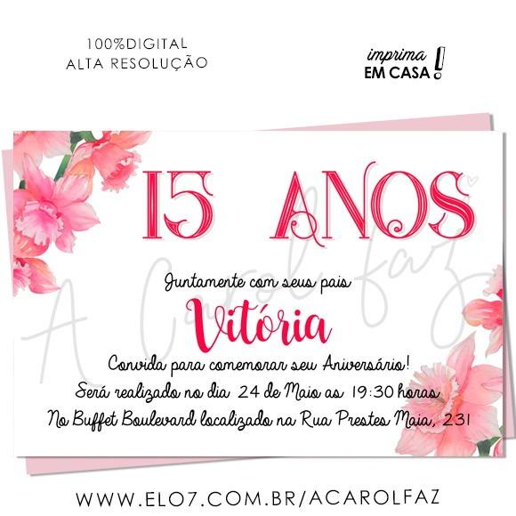 Convite Digital 15 Anos 14 No Elo7