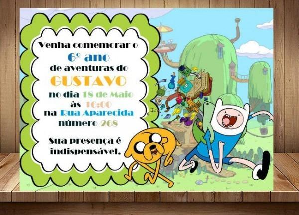 Convite Digital A Hora Da Aventura