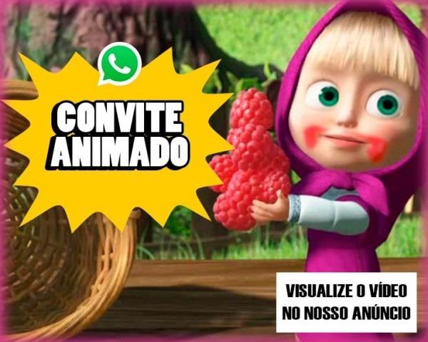Convite Digital Animado Aniversário Infantil Masha E O Urso