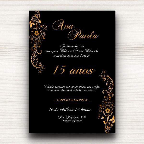 Convite Digital Dourado No Elo7