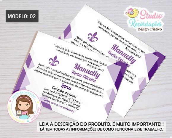 Convites De Formatura Letras