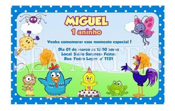 Convite Digital Galinha Pintadinha Impressão Ou Via Whatsapp