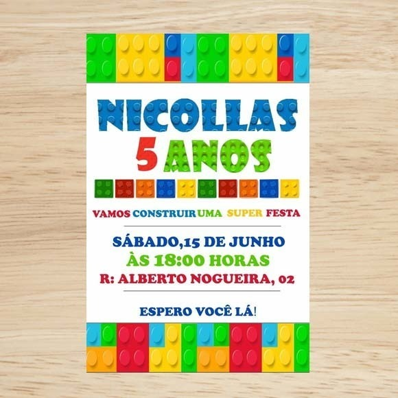 Convite Digital Lego