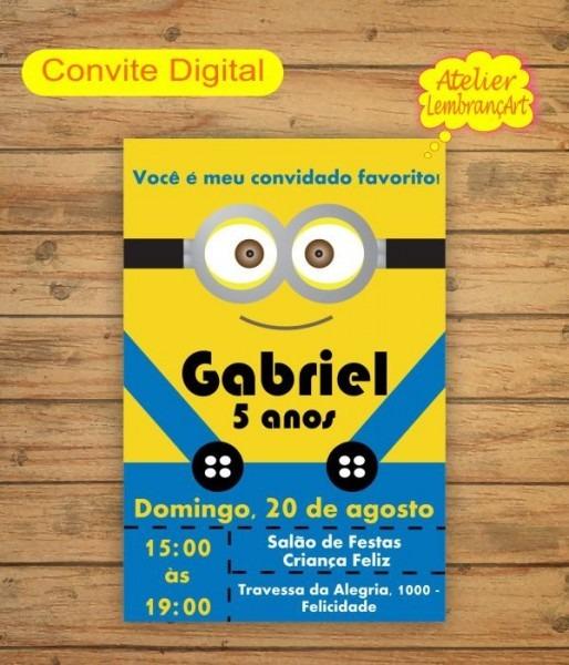Convite Digital Minions