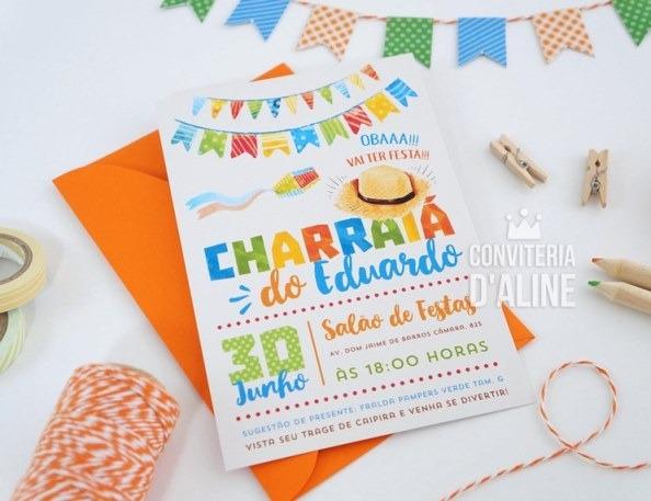 Blog Conviteria D'aline  Charraiá Do Edu