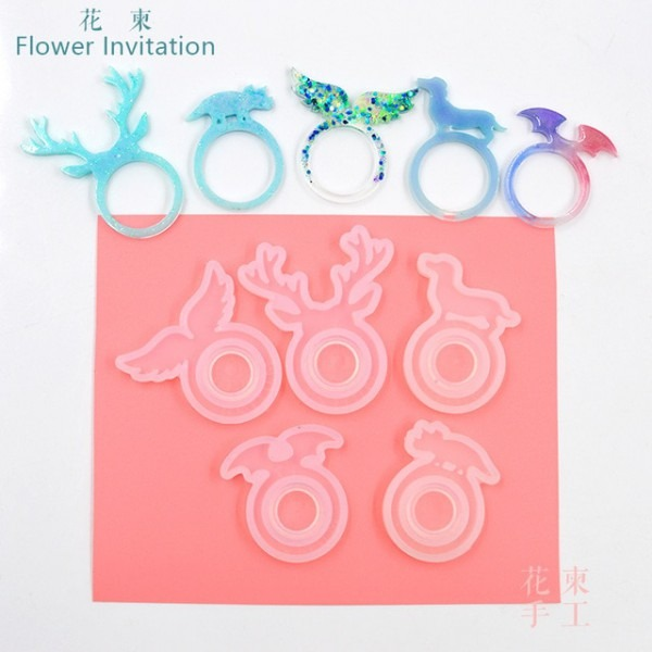 Convite Flor Anel Animal Mould_silicone Mold_cat Chifres Orelhas