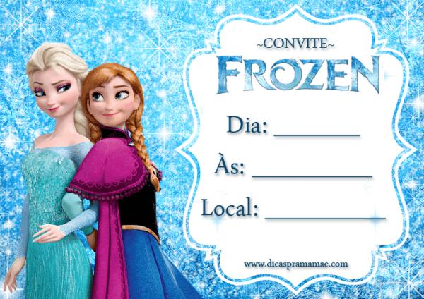 Convites Festa Frozen Para Imprimir