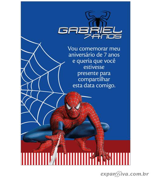 Convites Infantis Para Homem Aranha M6892
