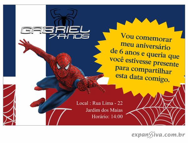 Convites De Aniversário Infantil Homem Aranha