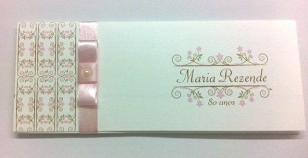 Convite  Maria Rezende  No Elo7