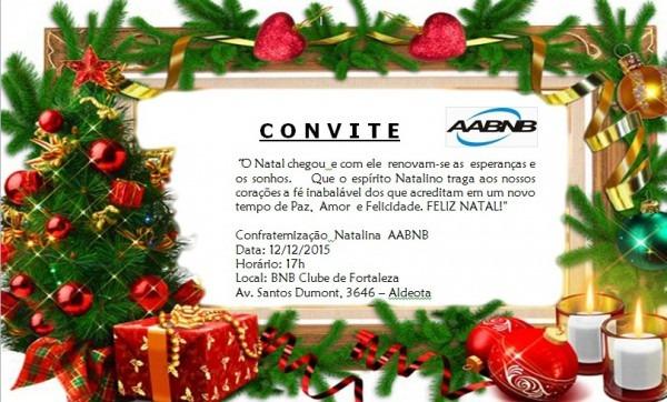 Convite Confraternização Natalina Aabnb – Aabnb