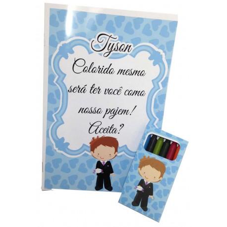 Kit De Colori Para Pajem No Dia Do Casamento