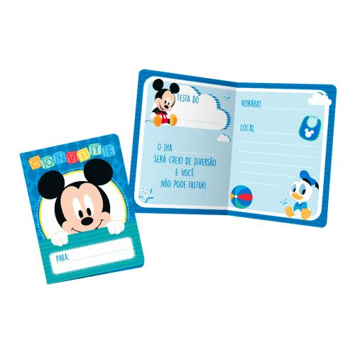 Convite Pequeno Mickey Baby Disney