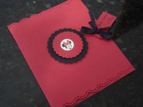 Convite Personalizado Minnie Vermelha No Elo7