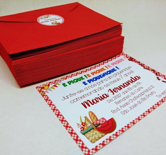 Convite Pique Nique (picnic) No Elo7